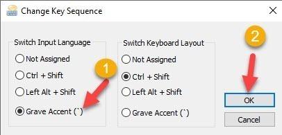 วิธีการตั้งค่าให้ใช้ปุ่มตัวหนอนในการเปลี่ยนภาษา