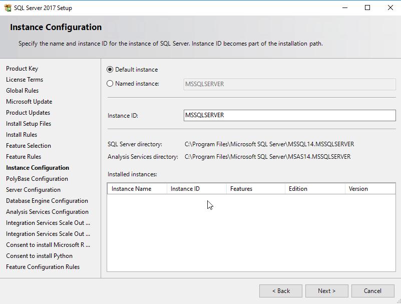 ขั้นตอนการติดตั้ง MS SQL Server 2017