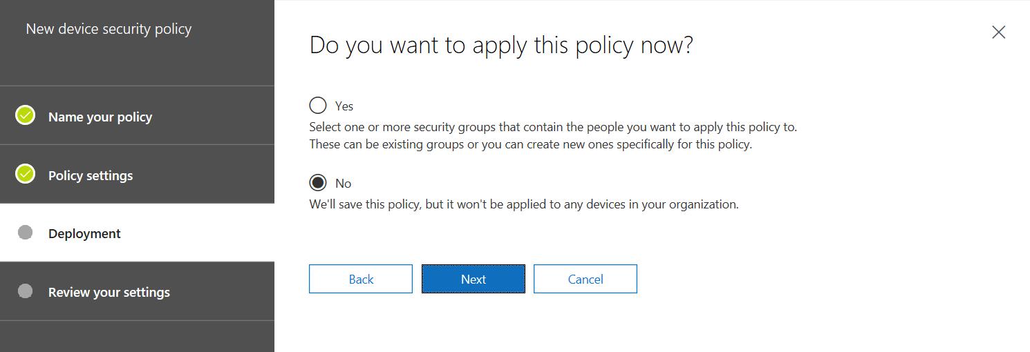 Deploy MDM Policy