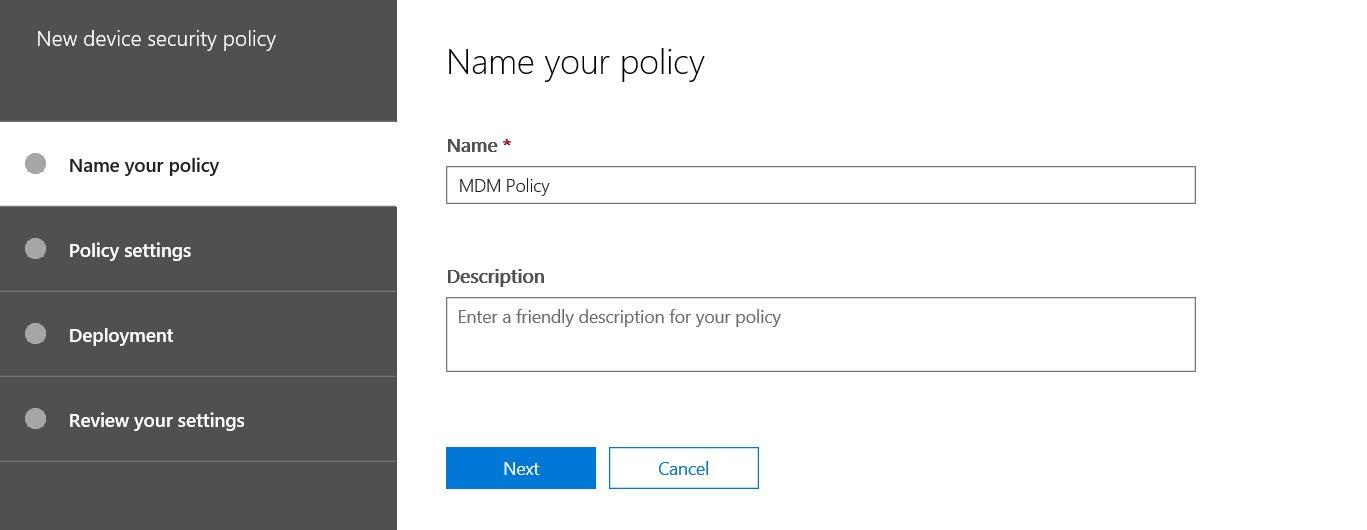 การกำหนด MDM Policy